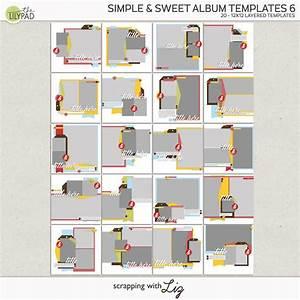 Photobook Template Psd Digital Scrapbook Template Simple Sweet Album 5