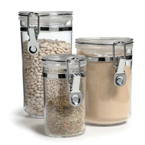 kitchen flour storage containers airtight canister set of 3 4871