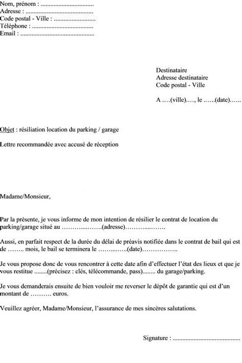 bail de bureau mod e modèle de lettre demande résiliation contrat de location d