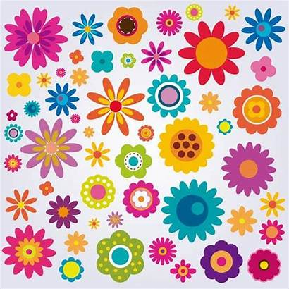 Flowers Colorful Clip Clipart Flower Pack Vector