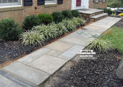 flagstone sidewalk flagstone walkway rocha construction silver spring md