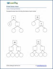 factoring numbers worksheets grade 4 factoring worksheets free printable k5 learning