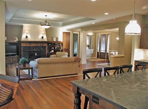 open floor plan  tray ceiling  designate great room plan   house plans