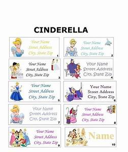 CUTE Disney Princess Cinderella Address Party & Name Sticker