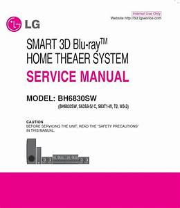 Lg Bh6830sw Home Theater System Original Service Manual