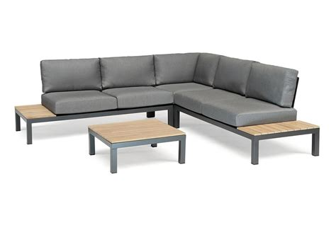 kettler lounge set kettler elba low corner lounge set with teak top coffee table