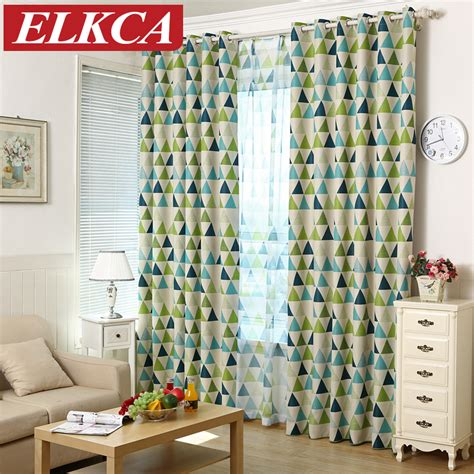 2016 new geometric printed blackout curtains for kids
