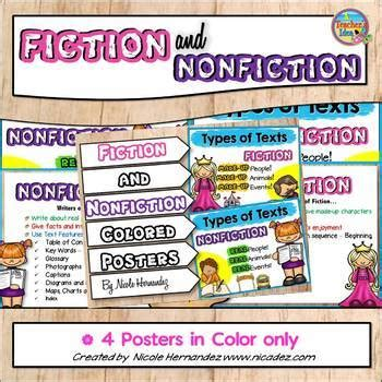 fiction  nonfiction posters  nicole hernandez