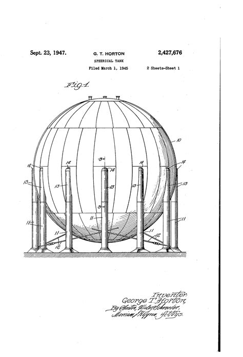 Patent US2427676 - Spherical tank - Google Patents