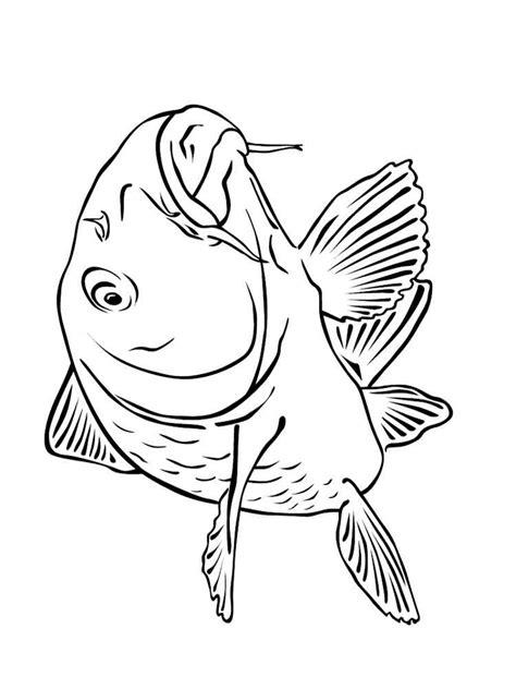 carp coloring pages   print carp coloring pages