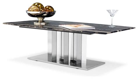 contemporary stainless steel table ls nero black and white marble coffee table with polished