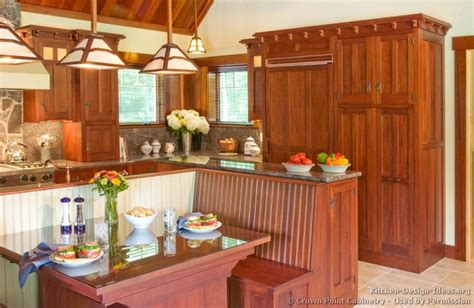 arts and crafts kitchen cabinets mission style kitchens designs and photos