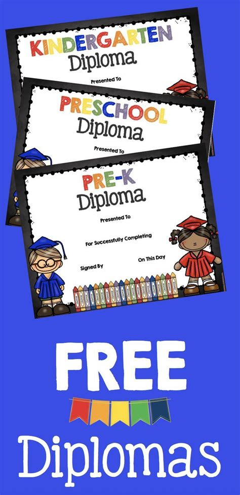adorable free graduation diplomas for preschool pre k 524 | c35bf07ef885f8bf89ae3aa6e4018799