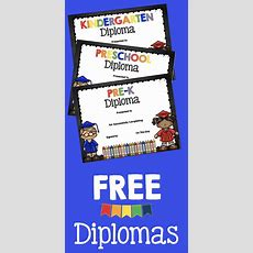 Adorable Free Graduation Diplomas For Preschool  Prek  Kindergarten  These Make Your