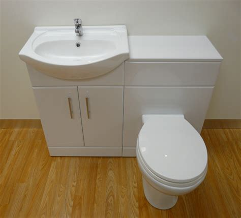 mm white gloss vanity unit basin wc toilet tap ebay