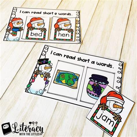 christmas cvc word sensory bin freebie  images cvc