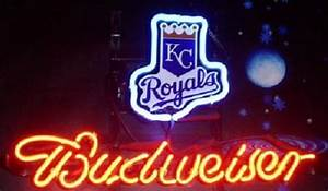 MLB KC Kansas Royals Budweiser Neon Light Sign 13