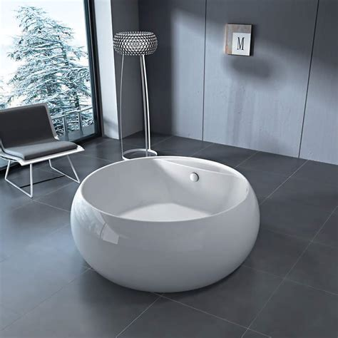 modern  bathtub white