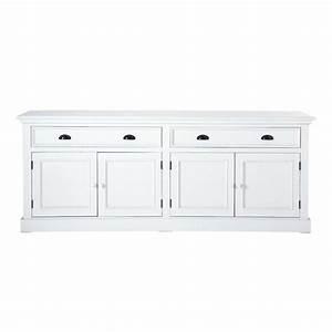 Buffet Blanc Maison Du Monde : buffet en bois blanc l 200 cm newport maisons du monde ~ Teatrodelosmanantiales.com Idées de Décoration