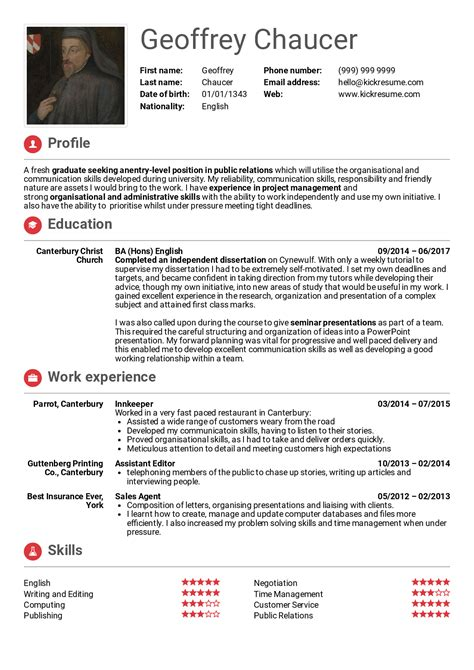 student resume relations resume sles career