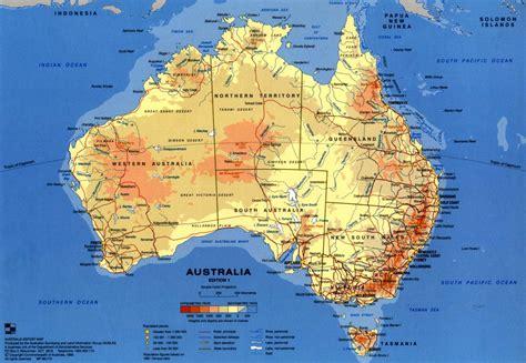 maps australia physical map