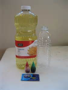 Homemade Lava Lamps in Water Bottles