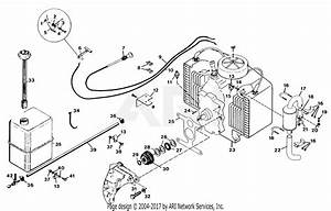 Gravely 47577 16hp  Without Hydraulic Lift Parts Diagram For Fuel And Exhaust System