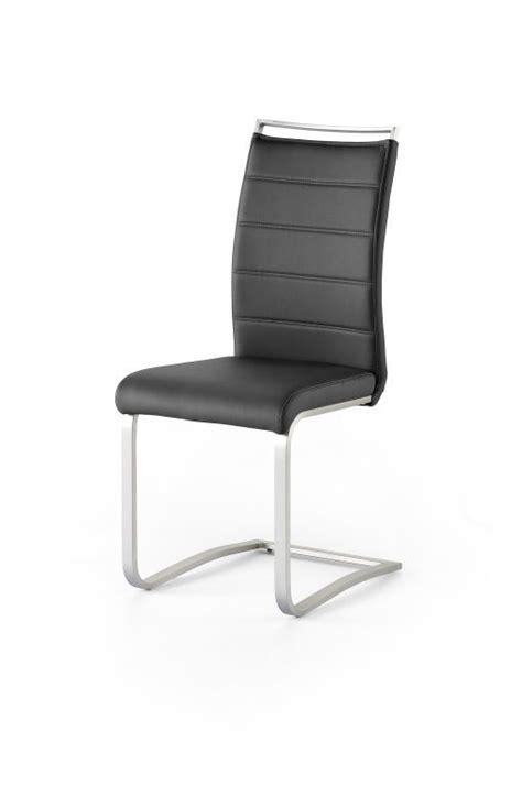 chaise à piètement luge pescara chaise à piètement luge pescara ton noir sb meubles discount