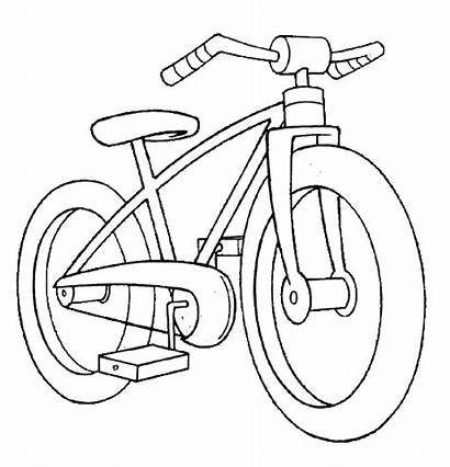 Coloring Pages Transport Transportation Printable Modes Bicycle