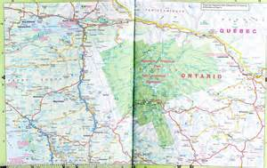 Atlas Road Map Ontario Canada