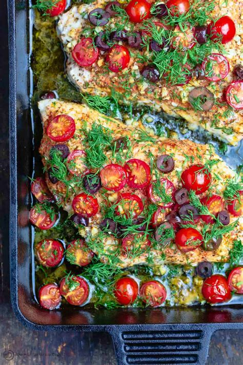 grouper baked recipe recipes mediterranean fish themediterraneandish tomatoes olives cooked fresh ll cooking