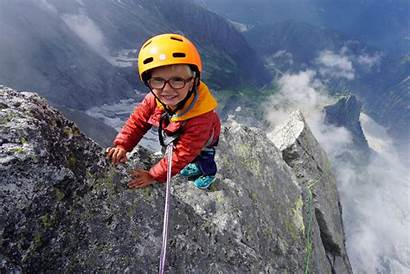 Mountain Foot Climber Houlding Youngest Reach Toddler