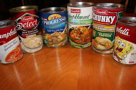 canned soup brands