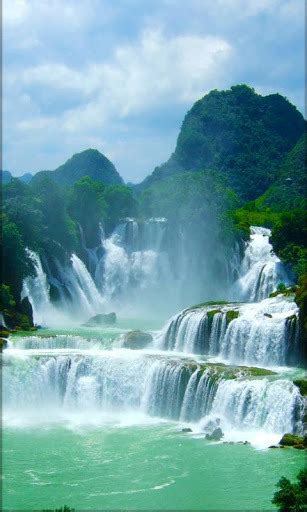 waterfall  wallpaper    pc