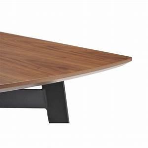 Table à Manger Bois Et Métal : table manger contemporaine et vintage mael en bois et m tal 180cmx90cmx77 5cm noyer noir ~ Teatrodelosmanantiales.com Idées de Décoration