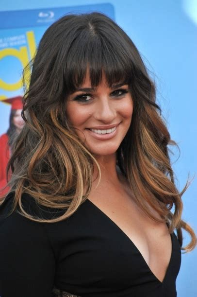 Lea Michele Hair Beauty Celebrity Ombre Bangs Its