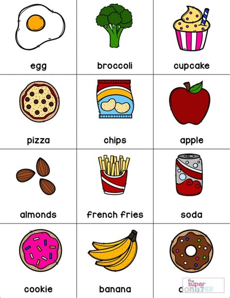 healthy foods posters worksheets  activities