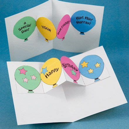 easy birthday card template make birthday and invitation pop up cards kirigami