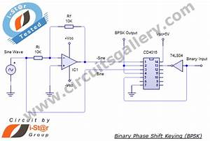 Binary Phase Shift Keying  Bpsk  Modulation Using Cd4016 With Simulated Output Waveform
