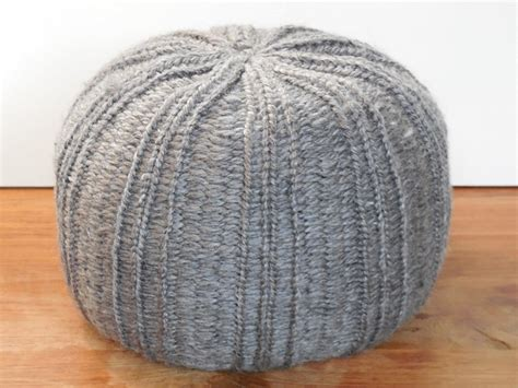 Knitted Pouf Ottoman by 18 Knit Pouf Patterns Guide Patterns