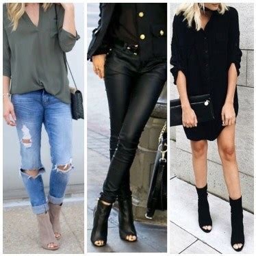 killer open toe booties outfit ideas  decide