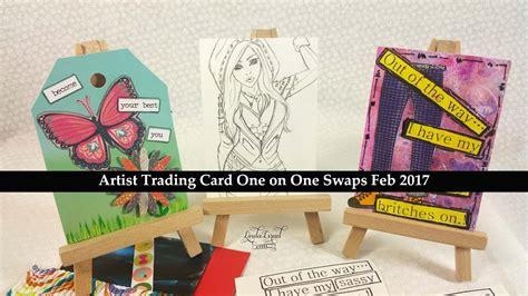artist trading card    swaps feb  youtube