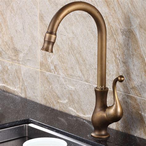 antique brass kitchen faucet best antique brass rotate kitchen sink faucets