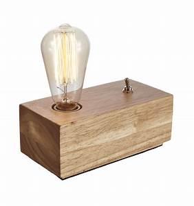 Lampe Design Bois : lampe de chevet en bois lampe de table en bois texas ~ Teatrodelosmanantiales.com Idées de Décoration