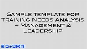sample template tna for management leadership skills With management training needs analysis template