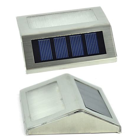 28 2 Led Solar Powered Wall Outdoor Garden Yard 2 Led