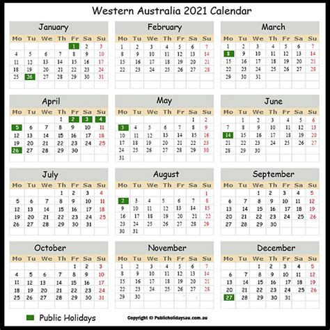 Us holidays, week number, date picker, today's date, days to go calculator, date to date picker and copy date to clipboard. 2021 Public Holidays Wa