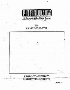 Parabody Home Gym Ex 350 User Guide