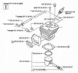Husqvarna 357 Xp  2003 Cylinder