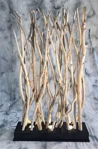 Branche De Bois Deco : paravent clair en petites branches de bois flott ~ Teatrodelosmanantiales.com Idées de Décoration